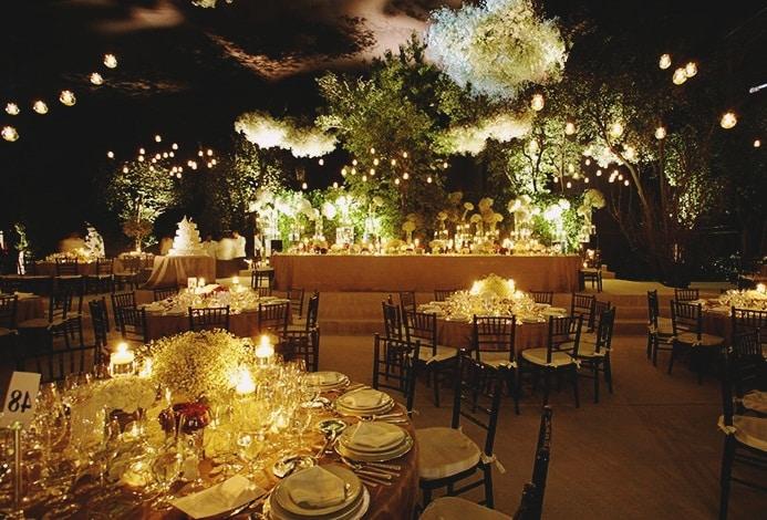 Boda en jardin de noche consejos catering chinch n for Terrazas nocturnas madrid