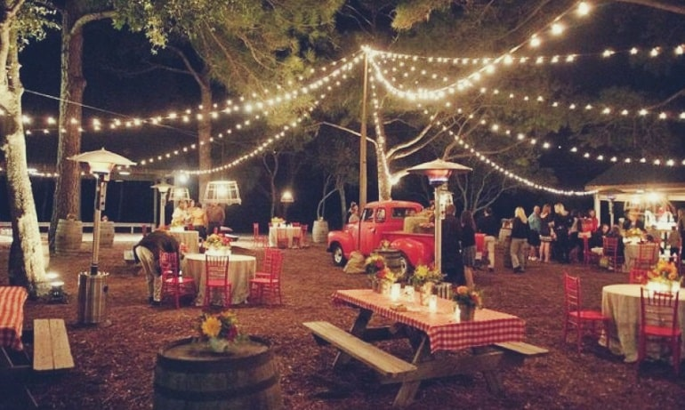 boda jardin noche