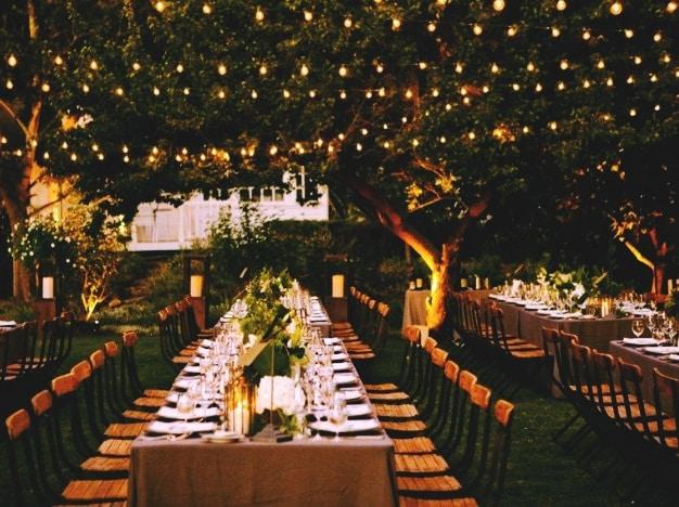bodas jardin noche
