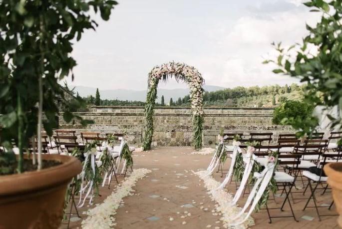 pasillo boda al aire libre