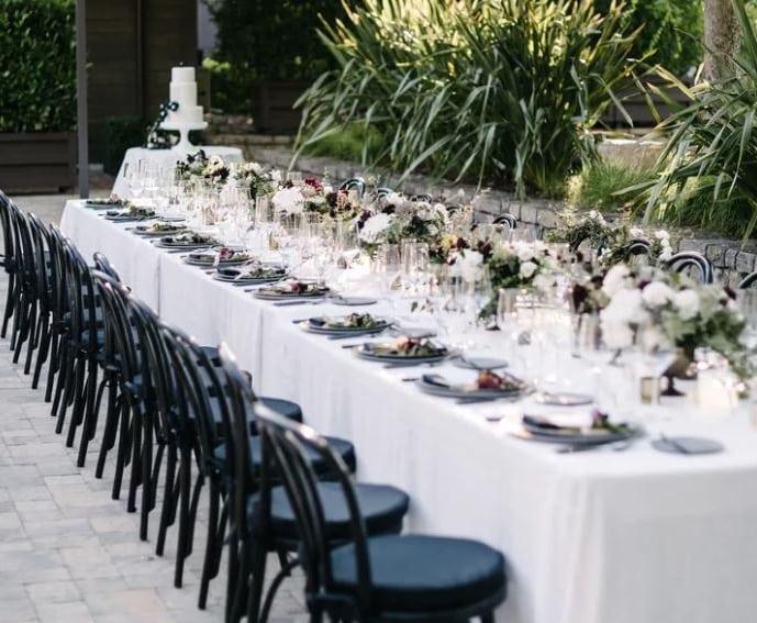 boda al aire libre mesa invitados