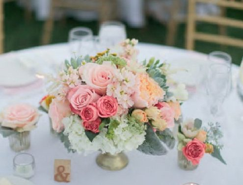 Mejores centros de mesa para matrimonio