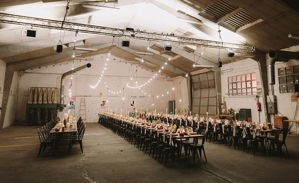 Lugares para una boda industrial