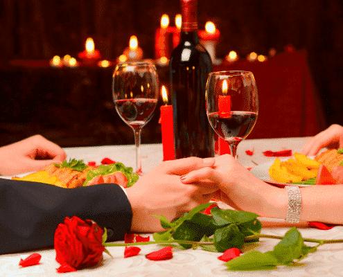 Banquete para tu cena de San Valentín