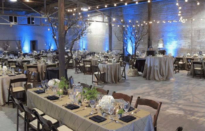 Decoración para boda industrial
