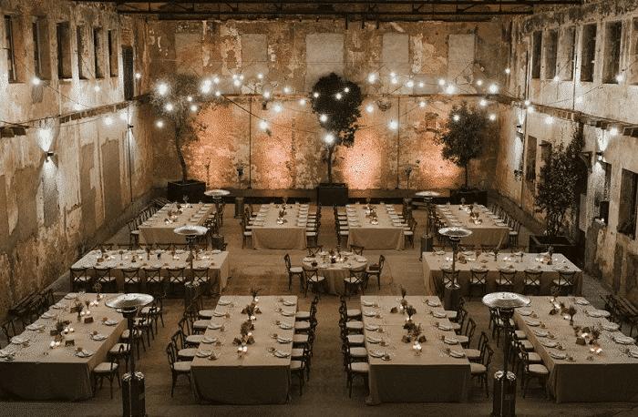 Espacio para boda industrial