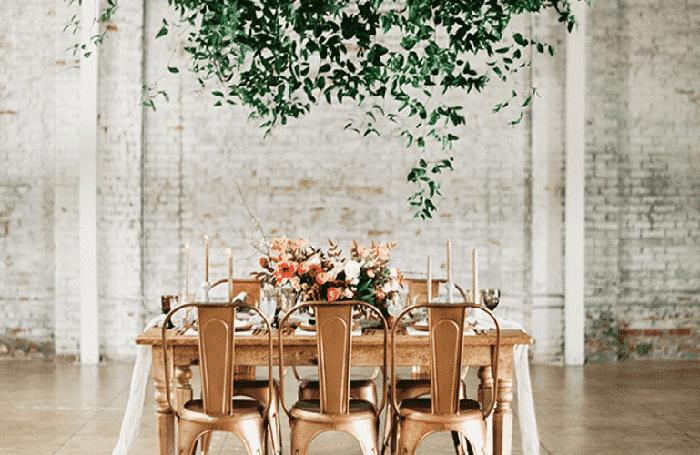 Muebles para boda industrial