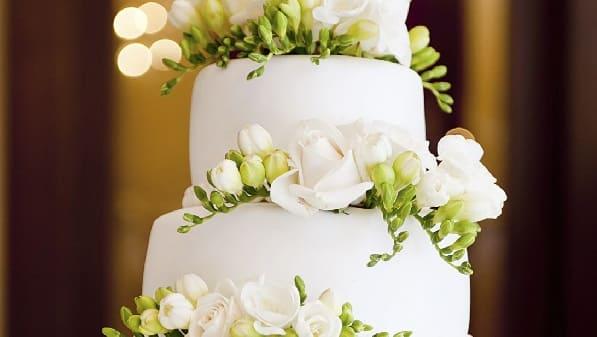 tarta de bodas de flores