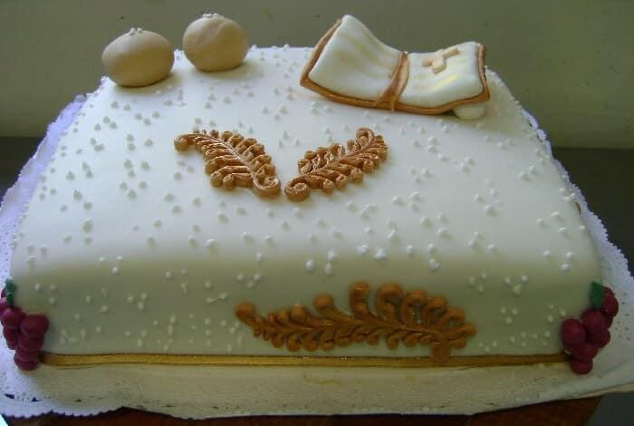 tarta de primera comunión