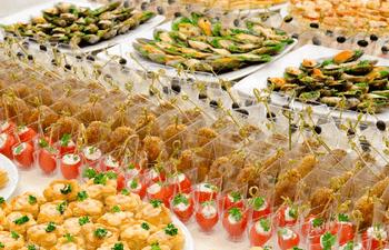 Tipos de buffets para los aperitivos
